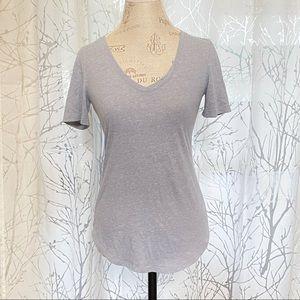 Victoria's Secret v-neck gray short sleeve tee top